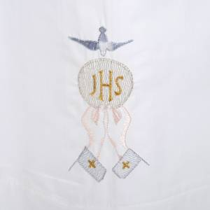 Albs: White alb cotton IHS, host, Holy Spirit