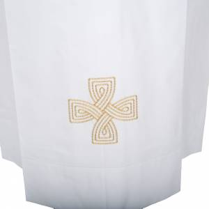Albs: White alb wool gold cross