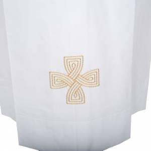 White alb wool gold cross s2