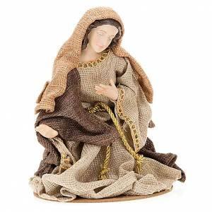 Golden hemp nativity set, 33cm s2