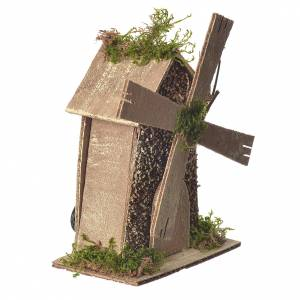 Watermills and windmills: Wind mill in for nativities of 5/6cm measuring 14x9x15cm