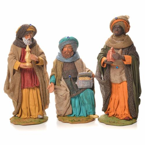 Wise Men, Neapolitan Nativity 24cm s1
