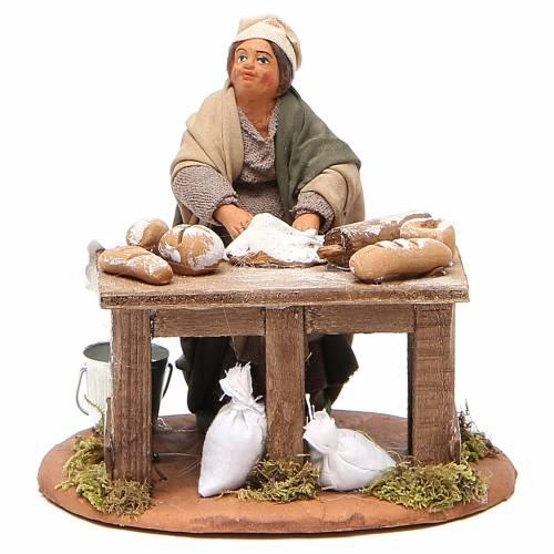 Woman kneading, Neapolitan nativity figurine 10cm s1