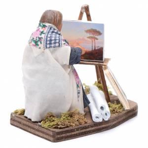Woman painting, Neapolitan nativity figurine 10cm s4
