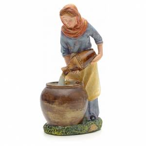 Nativity Scene figurines: Woman pouring water figurine in resin for nativities of 21cm