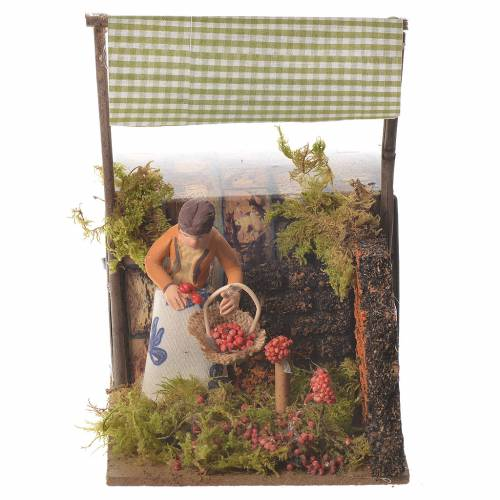 Woman with basket, 7cm animated nativity s1