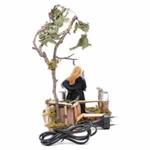 Woman with doves animated Neapolitan Nativity figurine 12cm s4