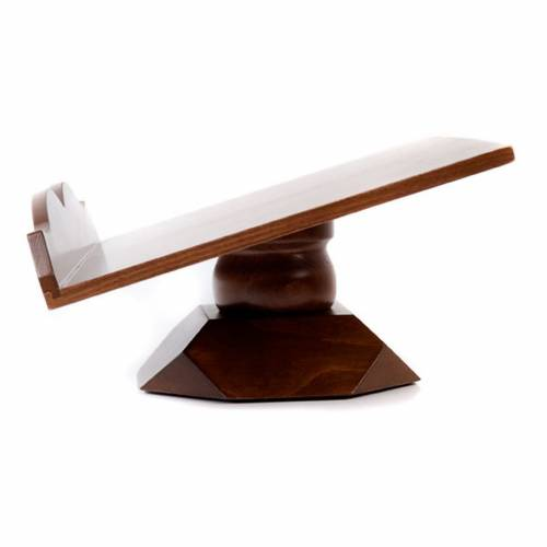 Wood book-stand- fixed and rotating s6
