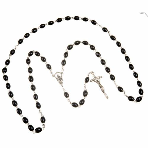 Wood rosary with oval 7mm beads s2