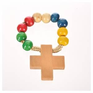 Wood ten beads rosary s3