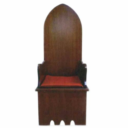 Wooden chair, gothic style 160x65x56 cm s1