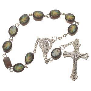 Wooden single decade rosary, Medjugorje 8x10mm s1