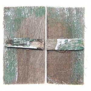 Balustrade, doors, railings: Wooden window for DIY nativities, rectangular 5,5x3, set of 2