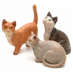 Animali presepe: 3 Gatti per presepe 30 cm Fontanini