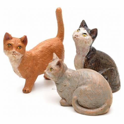 3 Gatti per presepe 30 cm Fontanini s1