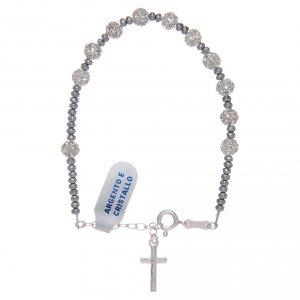 Silver bracelets: 800 sterling silver bracelet with strassball