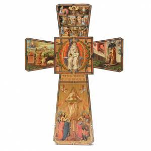 Crucifijos y cruces de madera: STOCK Cruz Dios Padre en madera 70x50 cm