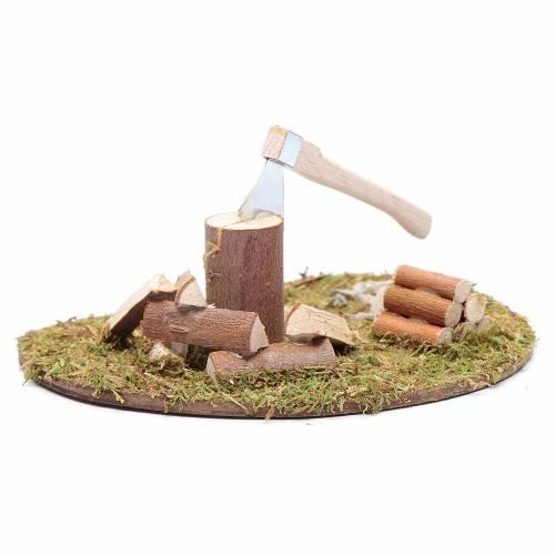 Accessorio campo di erba ovale ascia e legna s2