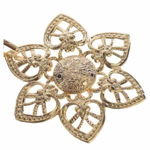 Chapes, Chasubles Romaines, Dalmatiques: Accroches dorés pour chape coeur