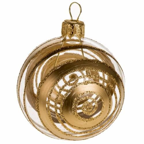Addobbo albero vetro decorazioni oro 6 cm s1