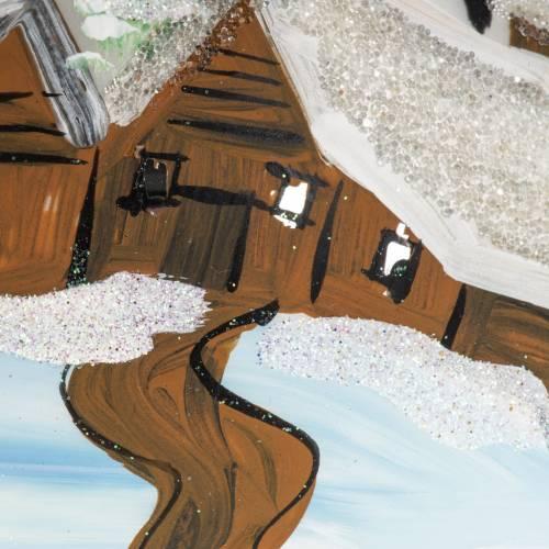 Adorno árbol de Navidad vidrio soplado blanco pueblo 12 c s2