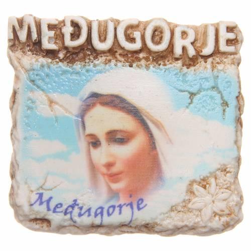 Aimant 6,5x6 cm visage Notre-Dame de Medjugorje s1