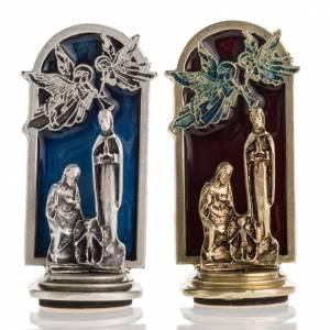 Magnets religieux: Aimant Nativité et anges 6,5x2,5cm