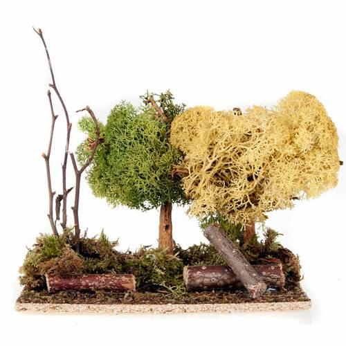 Set alberelli con licheni presepe fai da te s3