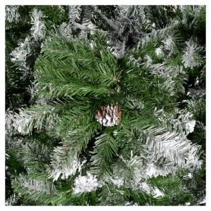 Albero di Natale 230 cm floccato pigne Oslo s4