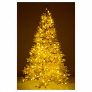 Albero di Natale 340 cm avorio 1600 luci led glitter oro s5