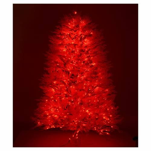 Albero di Natale innevato bianco 270 cm cm luci rosse led 700 s5