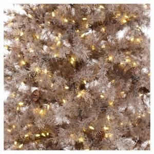 Albero di Natale marrone antico 200 cm brinato e pigne 300 led s2