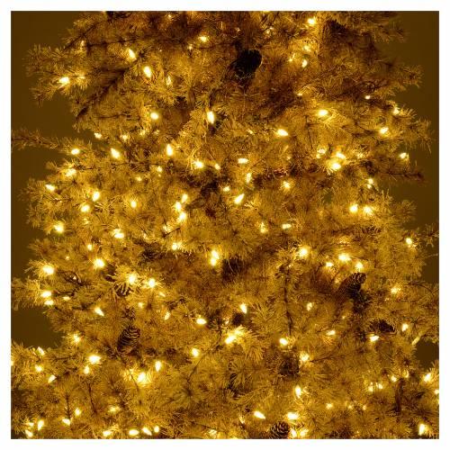 Albero di Natale marrone antico 200 cm brinato e pigne 300 led s6