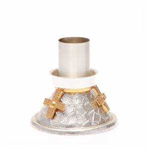 Altar candlestick golden crosses s2