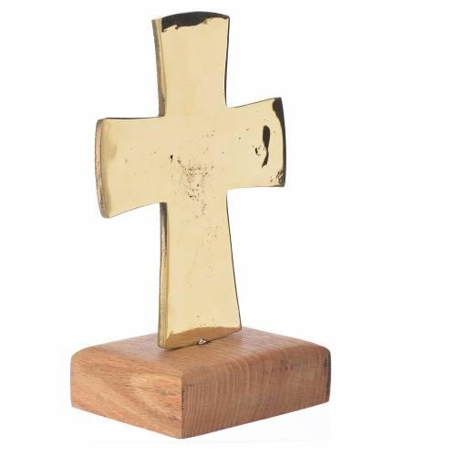 Altar crucifix Christ Priest and King Bethlehem monks 21x13cm s3