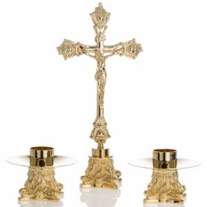 Altar crucifix with candle holders s1