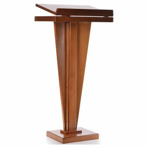 Lecterns: Ambo, walnut wood, pyramid