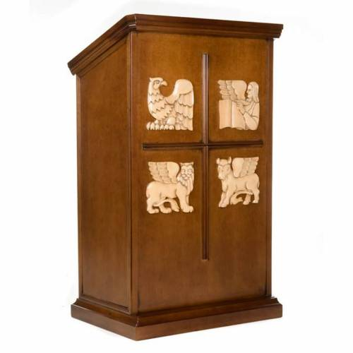 Ambo The Four Evangelists - Walnut Wood s1