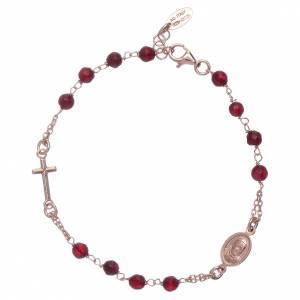 AMEN bracelets: AMEN 925 sterling silver bracelet with ruby agate beads
