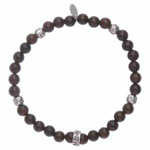 AMEN 925 sterling silver ebony bracelet with insert s2
