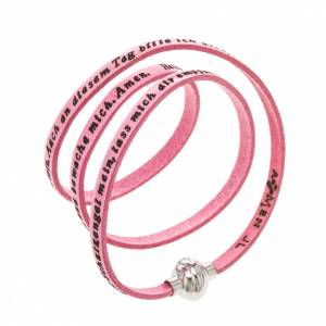 Amen Bracelet in pink leather Guardian Angel GER s1