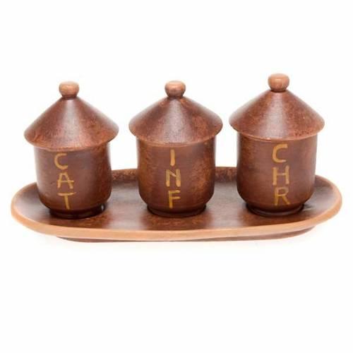 Ampoules pour huiles saintes en céramique s3