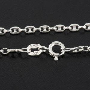 Anchor chain necklace in silver 925, 50 cm s2