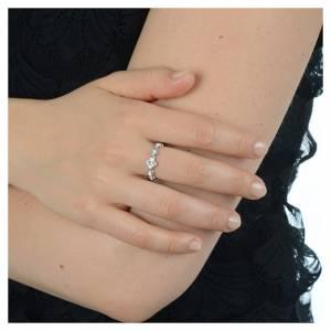 Anello decina argento 800 Swarovski trasparenti s4