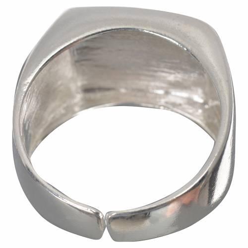 Anello episcopale agnello argento 800 lucido s3