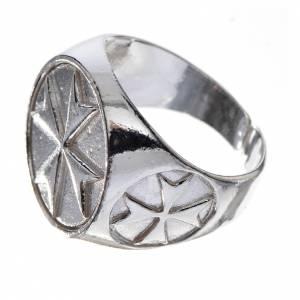 Anello per vescovi argento 800 croce di Malta s2