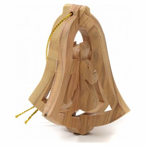 Ange à suspendre au sapin en bois d'olivier Terre Sainte s3