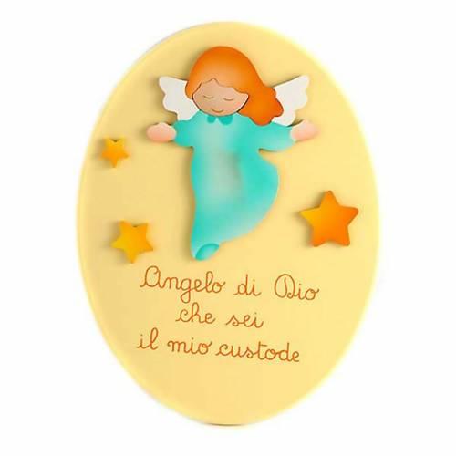 Angel of God yellow oval s1