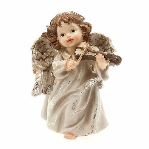 Angelito músico con violín decoraciones navideña s1