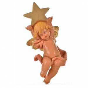 Angelo con stella rosa Fontanini 7cm s3